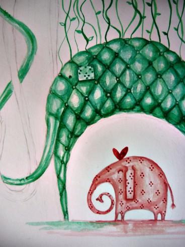 elephants in love - work in progress