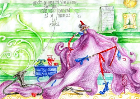 Vine Moşu' - ilustraţie de Crăciun - Graţiela Aolăriţi